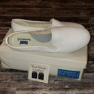 Keds White Leather slip on shoes sneakers 7.5 M
